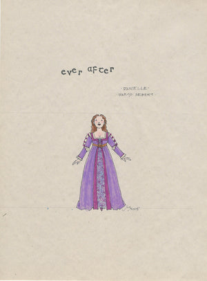 EVER AFTER - 'Danielle' Lavender Dress Original Sketch by Jess Goldstein
