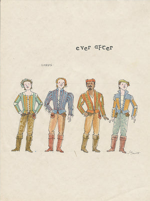 EVER AFTER - 'Lords Ensemble' No 1 Original Costume Sketch  by Jess Goldstein