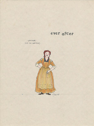 EVER AFTER -  'Louise' Original Costume Sketch by Jess Goldstein