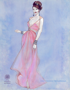"DIRTY ROTTEN SCOUNDRELS - ""Giving Them What They Want"" Original Costume Sketch by Gregg Barnes"