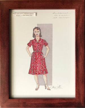 """Allegiance"" Framed Lea Salonga Costume By Alejo Vietti"