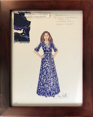 """Beautiful"" Framed Jesse Mueller Costume By Alejo Vietti"