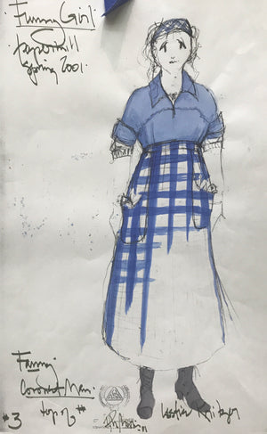 Leslie Kritzer in FUNNY GIRL, Costume sketch by David Murin, 'Coronet Man'
