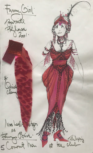 Leslie Kritzer in FUNNY GIRL, Costume sketch by David Murin 'Fanny At the Club'
