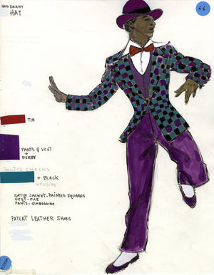 """GRIND"" THE MUSICAL, Ben Vereen Costume sketch by FLORENCE KLOTZ"