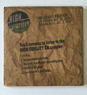 HIGH FIDELITY - Original Cast Music CD Sampler