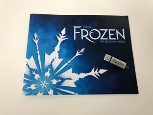 """Frozen"" Show Booklet & USB Drive with the Original Broadway Cast Recording"