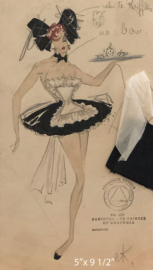 Latin Quarter Show Girl Costume by Elizabeth Adlon