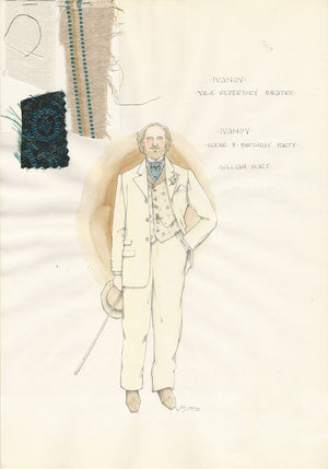 IVANOV - William Hurt as Ivanov Costume Sketch by Jess Goldstein