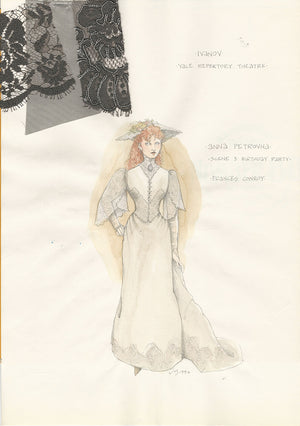 IVANOV - Frances Conroy as Anna Petrovna  Costume Sketch by Jess Goldstein