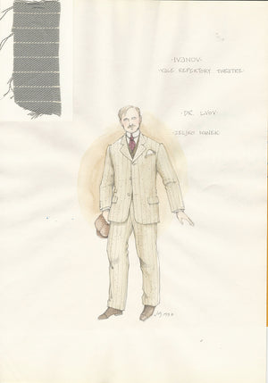IVANOV - Zeljko Ivanek As Dr. Lvov Costume Sketch by Jess Goldstein