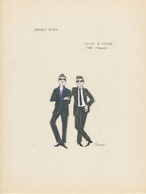 JERSEY BOYS - Vince and Stosh Original Costume Sketch by Jess Goldstein