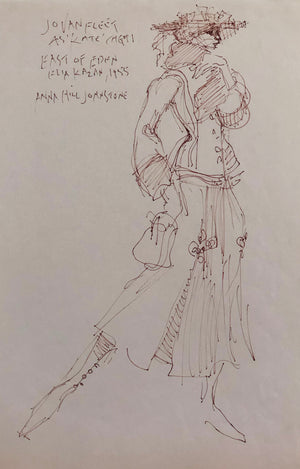 """East of Eden"" Jo Van Fleet costume sketch by Donfeld"