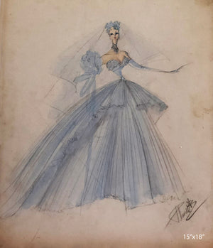 Joan Personette Original Costume Sketch