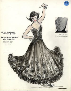 KISS OF THE SPIDER WOMAN - Chita Rivera as 'Aurora' Early Costume by Florence Klotz