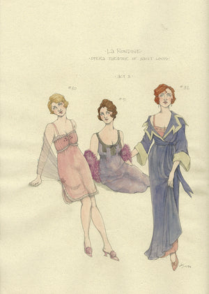 LA RONDINE - Female Ensemble Costume designs by Jess Goldstein
