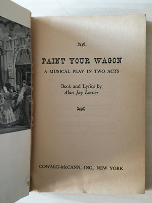 PAINT YOUR WAGON - Hard cover book