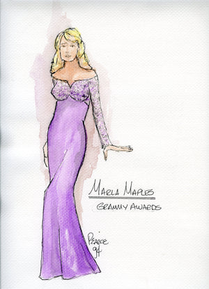 MARLA MAPLES Original Gown, designed by BOBBY PEARCE