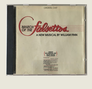 MARCH OF THE FALSETTOS - Original 1981 Off Broadway Cast CD Recording