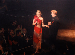 "Marla Maples ""Ribbon Dress"" worn at Broadway Bares"