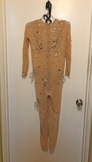 TABOO Original Broadway Nude Bejeweled Body Suit Worn by SARA URIARTY BERRY as NICOLA