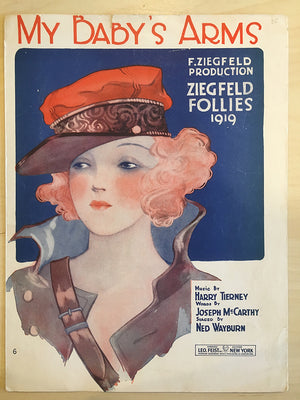 """My Baby's Arms"" from Ziegfeld Follies of 1919 Sheet Music"