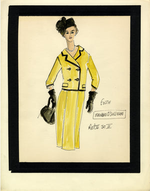 "Maureen O'Sullivan in ""NEVER TOO LATE"" Sketch by FLORENCE KLOTZ"