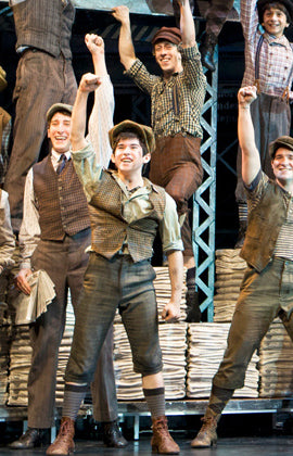 NEWSIES - Trio of Newsies Original Costume sketch by Jess Goldstein