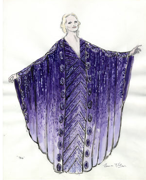 PEGGY LEE - Purple Gown designed by FLORENCE KLOTZ