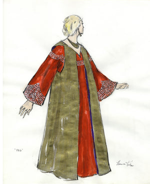 PEGGY LEE - Red and Gold Gown designed by FLORENCE KLOTZ