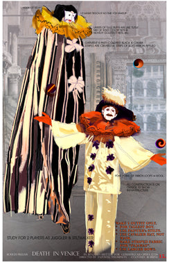 DEATH IN VENICE - 'Players' Costume sketch by Carrie Robbins for Glimmerglass Opera