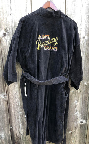 AIN'T BROADWAY GRAND - Black Cotton Robe