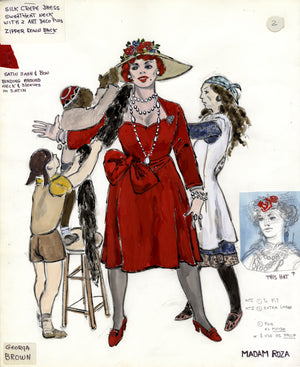 """ROZA"" THE MUSICAL, Georgia Brown costume sketch by FLORENCE KLOTZ"