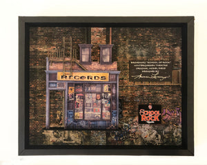 School of Rock - Record Store Model Shadow Box