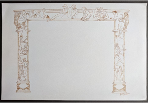"""Prince of Broadway"" Print of Proscenium Design (cut from show) by Beowulf Boritt"