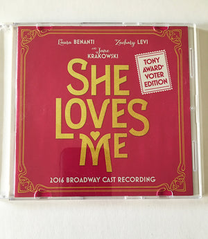 SHE LOVES ME -  Selections from the 2016 Broadway revival CD