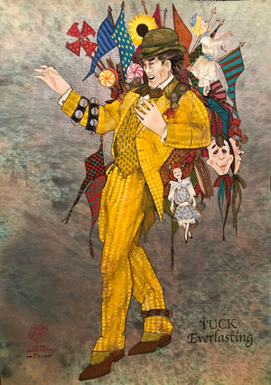 TUCK EVERLASTING - 'Man in the Yellow Suit' Costume sketch by Gregg Barnes
