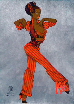 """Kinky Boots"" - Lola Costume Concept Sketch By Gregg Barnes"