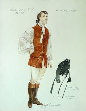 Victor Garber As Dick Dudgeon, Costume Sketch By Zack Brown