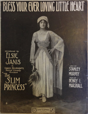 """Bless Your Ever Loving Heart"" Vintage Sheet Music, 1911"