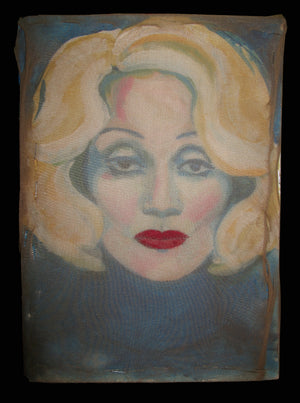 Marlene Dietrich- Mixed Media Portrait By Charles Busch