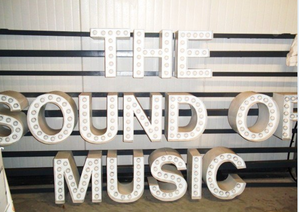 """The Sound Of Music""  Original Broadway Marquee Sign"