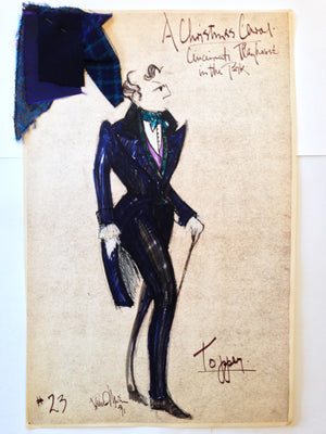 """A Christmas Carol"" Topper Orig. Costume Sketch, David Murin"