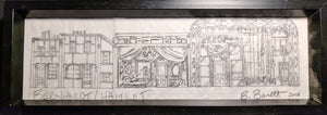 BERNHARDT/HAMLET set pencil sketch by Beowulf Boritt