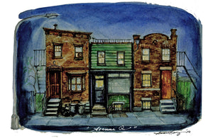 """Avenue Q"" Broadway Sketch- Signed Ltd. Print By Anna Louizos"