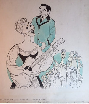 Mary Martin Sound Of Music Caricature By Sam Norkin