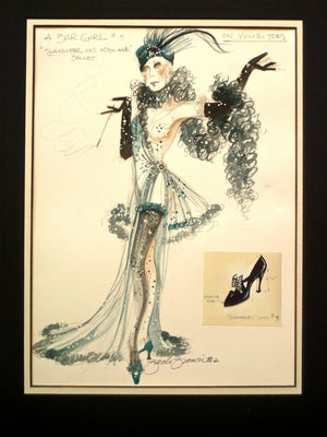 "Original Watercolor ""On Your Toes"" Costume Design  By Zack Brown"