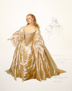 "Robert Perdziola  Renee Fleming As Imogene  In ""Il Pirata"""