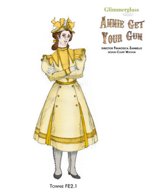 """Annie Get Your Gun"" Townie Girl Costume Sketch By Court Watson"