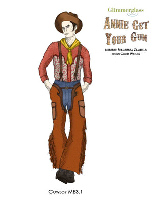 """Annie Get Your Gun"" Cowboy Costume Rendering #3 - Court Watson"
